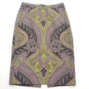 J.Crew Sovereign Paisley Career Pencil Skirt